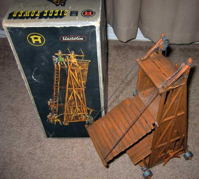 Elastolin Toy Siege Tower / Draw Bridge